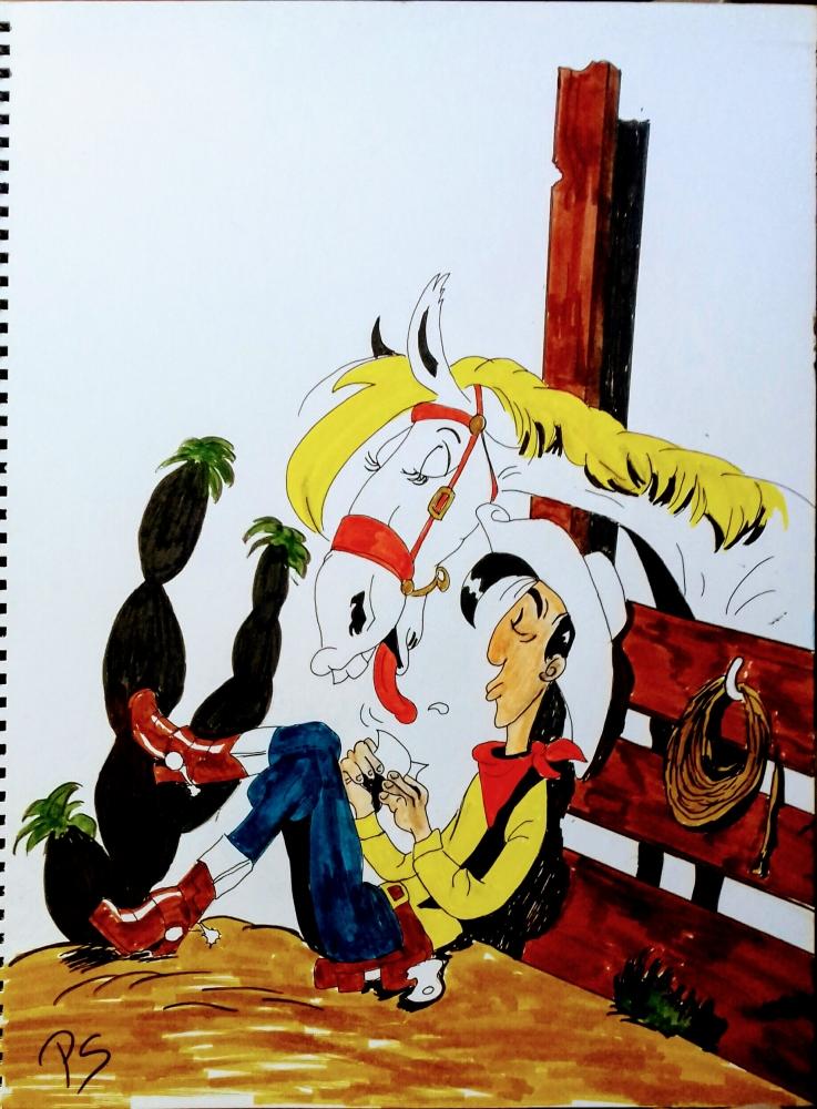 Lucky Luke por PenStilos